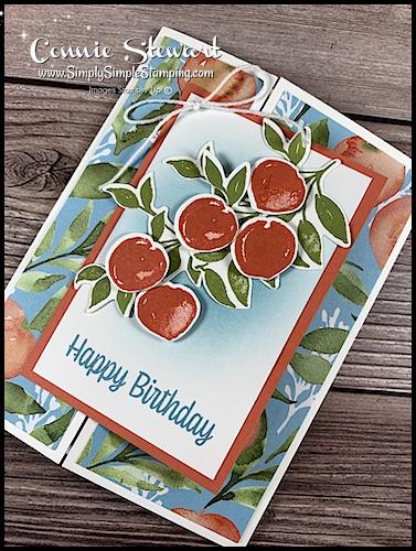 Gate Fold Peaches Card