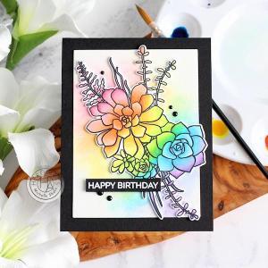 Succulent Rainbow Card