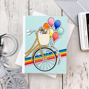 Bicycle and Balloons Birthday Card