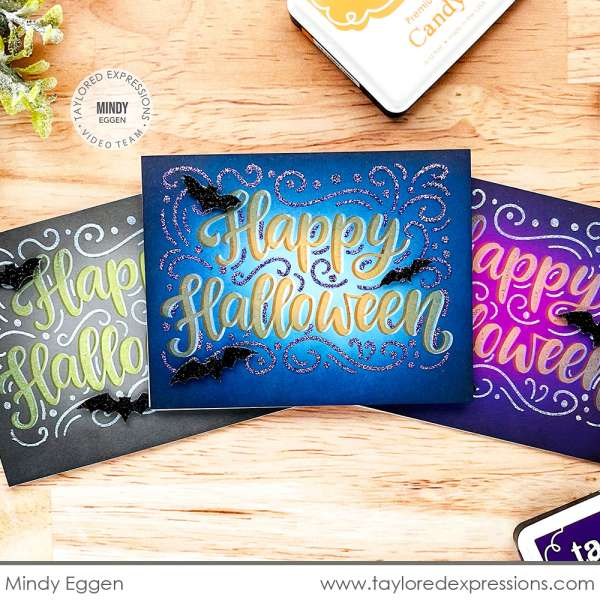 Stamped and Stenciled Halloween Cards