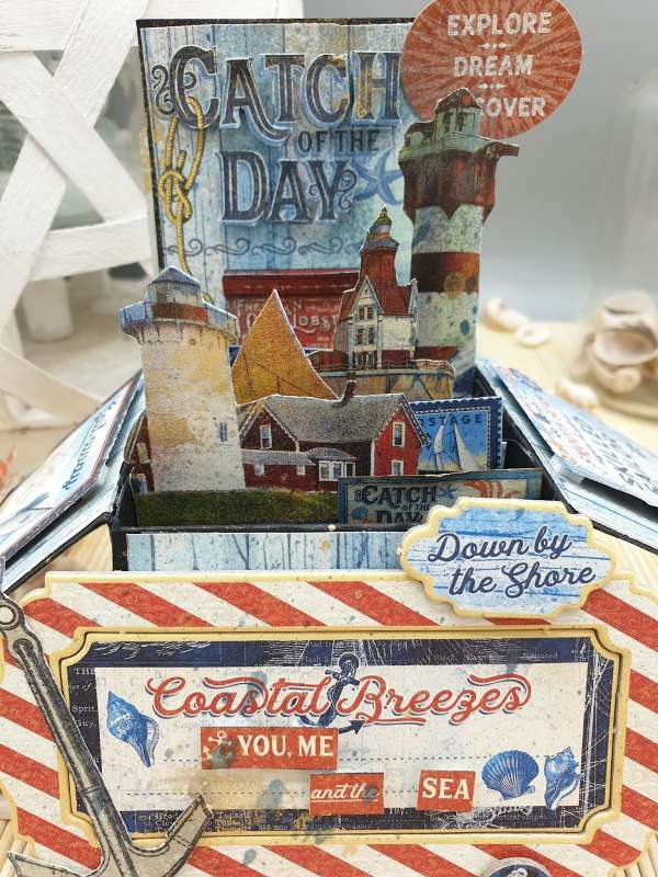 Nautical Pop Up Box Card