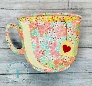 Tea Cup Shaped Shaker Card