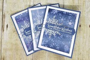 Color Lifting Snowflake Card