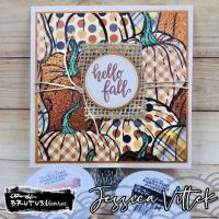 Paper Pieced Pumpkins Card
