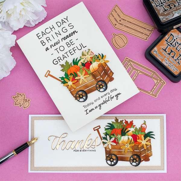 2 Autumn Harvest Wagon Cards