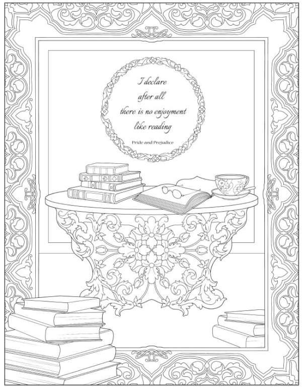 4 Jane Austen Coloring Pages
