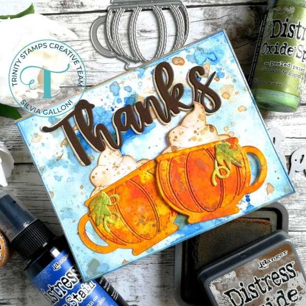 Pumpkin Mugs Thank You Card