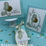 Seaside Notions stamp set, birthday card & 3-D treat Holder for Facebook Live