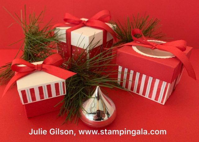 12 Days of Christmas - Day #2, trio of boxes