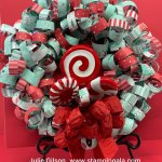 Christmas Wreath, Let it Snow DSP, 12 Days of Christmas, Ruched Ribbon, Home Decor