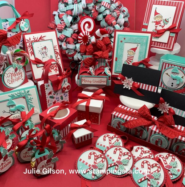 Create 12 Christmas Projects using the Snowman Season Bundle and the Let it Snow DSP.