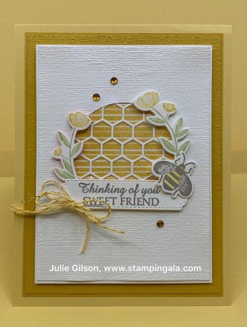 Greeting card, gift box & lip balm holder using the Honey Bee Bundle, #Stampin Up, #Stampin Gala, #Honey Bee Bundle