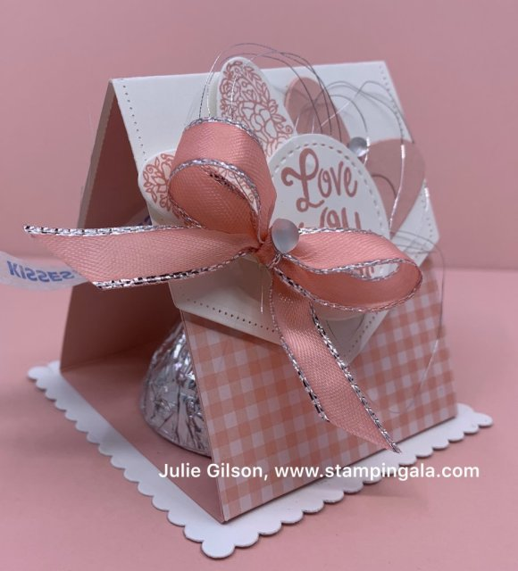 Valentine card & treat holders using Meant to Be & Heartfelt stamp sets. #Stampin' Up, #Stampin' Gala, #Valentine's Day, #Treat Holder