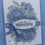Greeting card using the Band Together Bundle. Perfect as a thank you card. #Stampin
