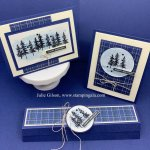 Masculine Cards and Treat Holder created with the Waterfront Stamp Set. #Stampin