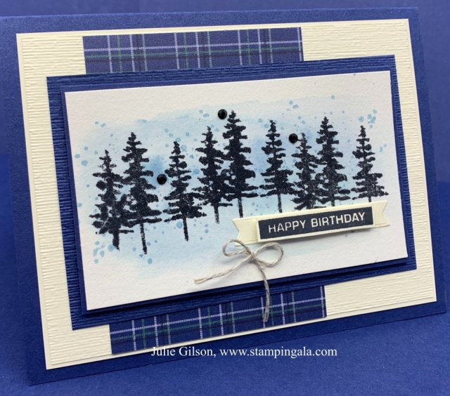 Masculine Cards and Treat Holder created with the Waterfront Stamp Set.  #Stampin' Up, #Stampin' Gala, #Water Coloring