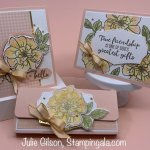 Cards and a treat holder created using To a Wild Rose stamp set. #Thinking of You, #Stampin