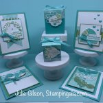Class to Go featuring the Honey Bee Bundle. Class includes 4 cards and 2 treat boxes. #Stampin
