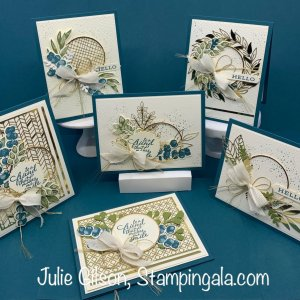 Class to Go featuring the Forever Greenery Suite. #Stampin Up!, #Stampin' Gala, #Julie Gilson, #Class to Go