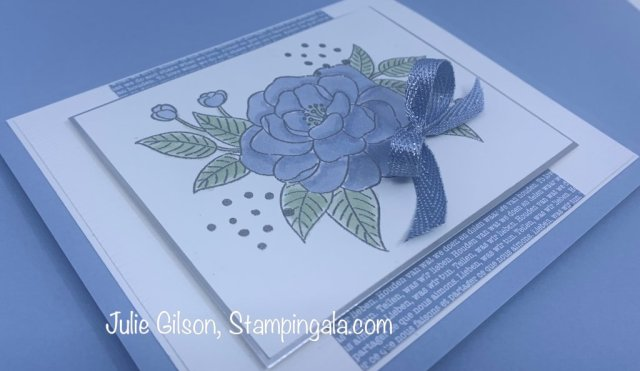 Thinking of you card created with the So Much Love Stamp set by Stampin' Up.  #Stampin' Up, #Stampin' Gala, #Julie Gilson, #Thinking of You