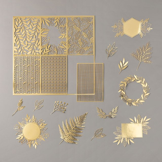 Forever Gold Laser-Cut Specialty Paper.  #Stampin' Up, #Stampin' Gala