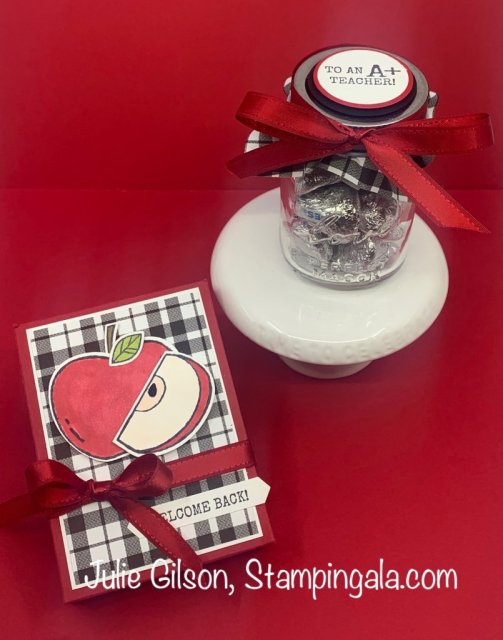 Back to School treats created with the Harvest Hellos Stamp Set.  #Stampin' Up, #Stampin' Gala, #Treat Holder, #3D, #Handmade gifts, #Teacher Gifts