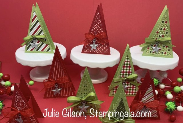 12 Day of Christmas Projects created by Julie Gilson, Stampingala.com.  #Stampin' Up, #Treat Holders, #Christmas Crafts, #DYI, #Stocking Stuffers