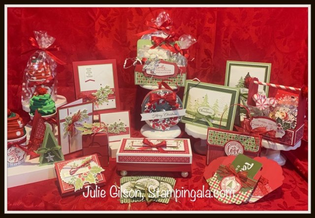 12 Days of Christmas Tutorial.  #Stampin Up, #Stampin Gala, #Treat Holders, #Stocking Stuffers, #Christmas Cards