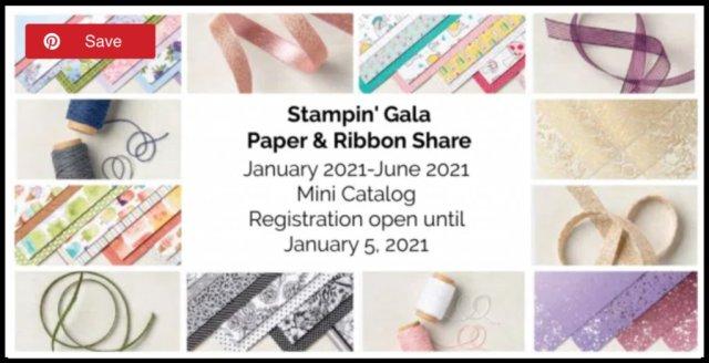 Designer Series Paper & Ribbon Share available from the Jan 2021 - Jun 2022 Mini Catalog. #Stampin' Up, #Stampin' Gala