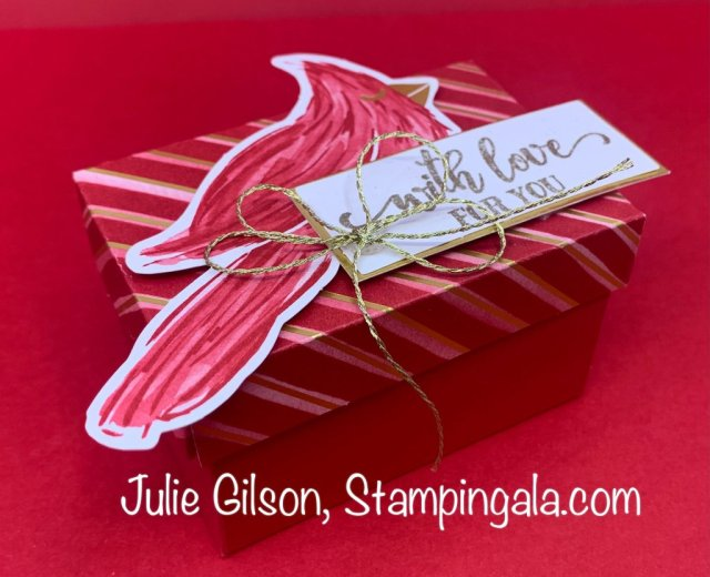 Christmas Card, Gift Card Holders, Treat Holders, & Boxes created with Stampin' Up's Tag Buffet Kit.  #Stampin' Up, #Stampin' Gala, #Julie Gilson, #Handmade Gifts, #Christmas Crafts