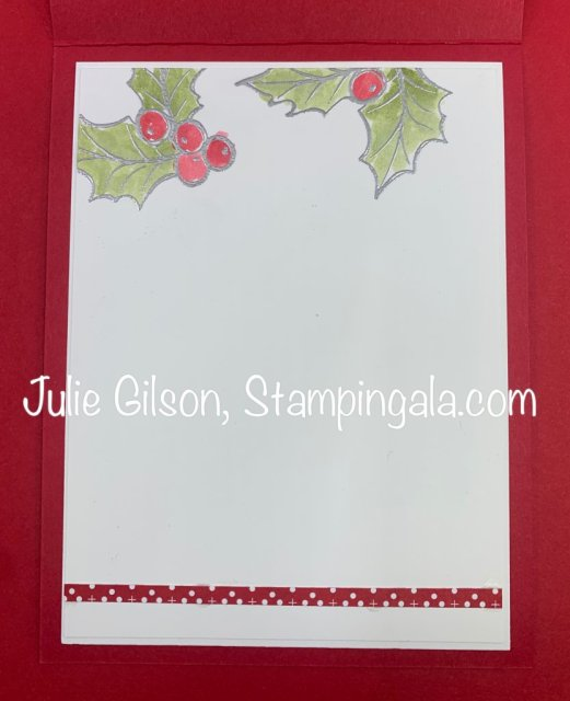 Christmas Card created with Stampin' Ups Christmas Gleaming stamp set for Makeover Monday. #Stampin' Up, #Stampin' Gala, #Christmas Gleaming, #Watercoloring, #Handmade Cards, #Makeover Monday