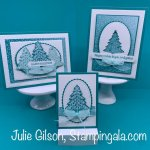 Christmas cards and gift card holder created with Stampin
