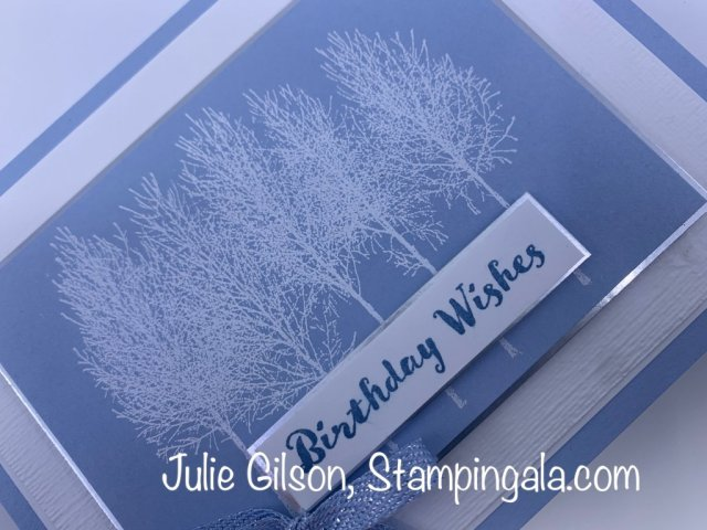 Christmas Card created with Stampin' Up''s Snow Winter Woods stamp set. #Stampin' Up, #Stampin' Gala, #Julie Gilson, #Christmas Cards, #Handmade Cards, #DIY