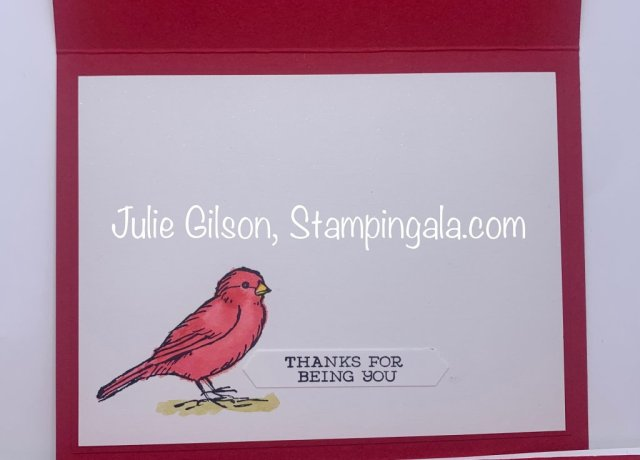 Handmade card created with Stampin' Up's Free as a Bird stamp set.  #Stampin' Up, #Stampin' Gala, #Water coloring, #Birthday, #Thinking of You