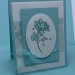 Thank you card created with Stampin