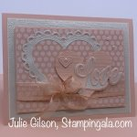 Valentine card created with Stampin