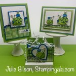 Greeting cards and treat holder created with Stampin