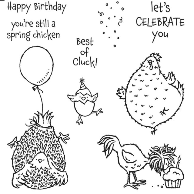 Birthday card created with Stampin' Up's Hey Birthday Chick stamp set. #Stampin' Up, #Stampin' Gala, #Kid's Birthday, #Simple Sunday.