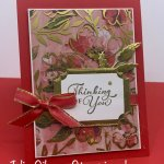 Thinking of You Card created with the Fine Art Floral DSP & the Golden Garden DSP. #Stampin