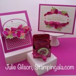 Birthday cards and treat holder created with the Prettiest Birthday Bundle for Facebook Live. #Stampin