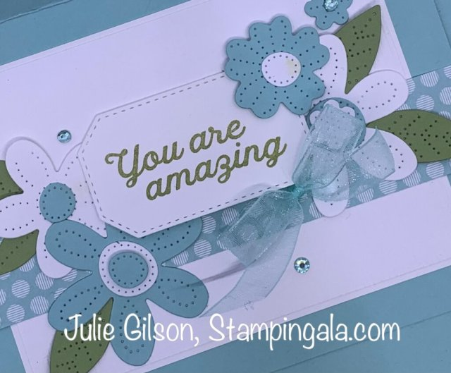 Greeting Card created with the In Bloom Bundle for Makeover Monday.  #Stampin' Up, #Stampin' Gala, #Handmade Cards, #Die Cuts