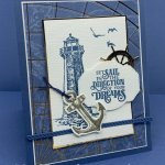 Greeting Card created with the Sailing Home stamp set and Smooth Sailing Dies. #Stampin