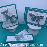 Greeting cards and treat holder created with the Butterfly Bouquet Bundle. #Stampin