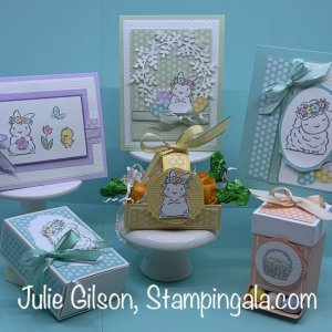 Springtime Joy Class to Go featuring the Springtime Joy stamp set. #Stampin' Up, #Stampin' Gala, #Easter crafts, #Easter cards, #Spring Crafts, #Handmade gifts