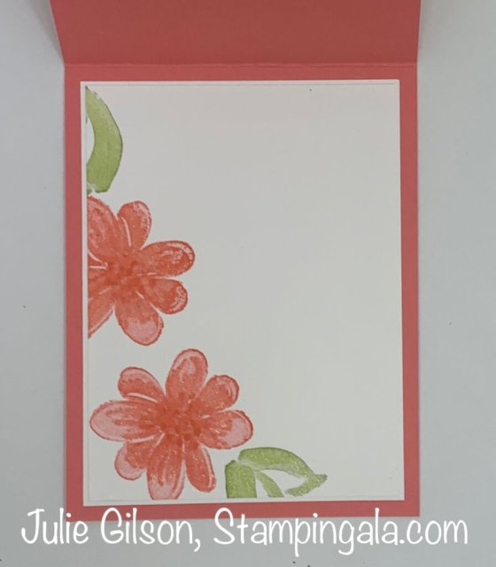 Get Well card created with the Gorgeous Posies stamp set.  #Stampin' Up, #Stampin' Gala, #Handmade cards