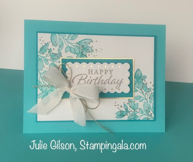Greeting cards & treat holder created with Stampin' Up's Forever Fern Bundle. #Stampin' Gala, #Julie Gilson, #Hippo & Friends, #3d, #Handmade cards