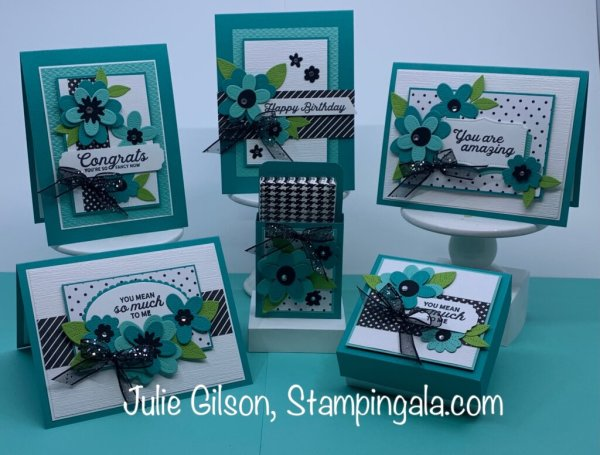 In Bloom Class to Go featuring the In Bloom Bundle. #Stampin' Up, #Stampin' Gala, #Julie Gilson, #Kits, #Handmade Card, #Boxes