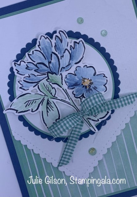 Greeting cards and gable box created with Stampin' Up's Hand-Penned Bundle for Facebook Live. #Stampin' Gala, #Julie Gilson, #Thank you card, #Get Well, #3D, #Handmade cards, #Crafts