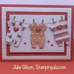 Baby card created with Stampin