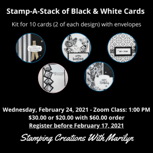 Black & White Stamp-A-Stack